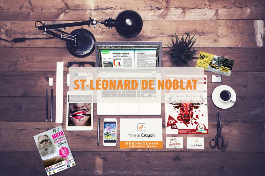 Illustrations de la ville de Saint-Léonard de Noblat